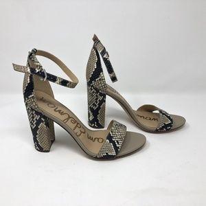 Sam Edelman Snake Skin Print Yaro Block Heels